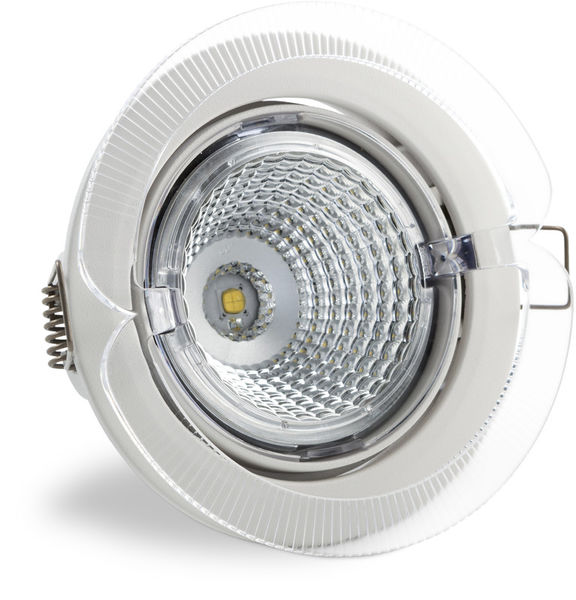 S102 4000K 60° 700lm IP23 LED Spot Light with White Cover