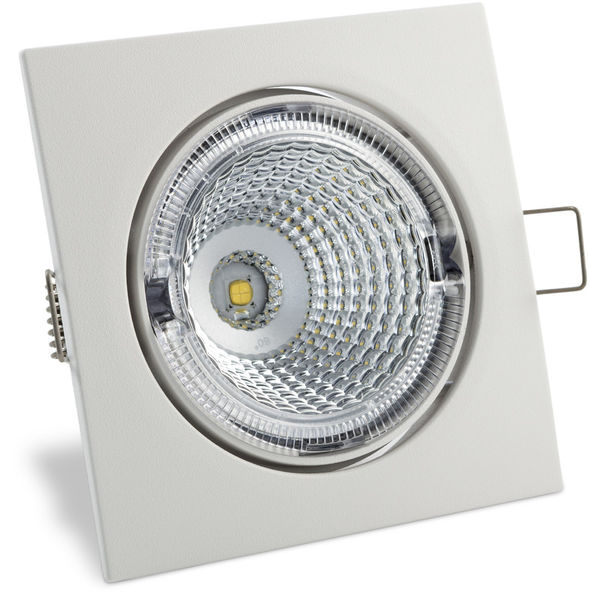 S100 3000K 60° 350lm IP23 LED Spot with White Squared Cover