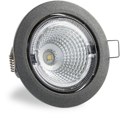 S100 3000K 60° 350lm IP23 LED Spot with Dark Grey Cover