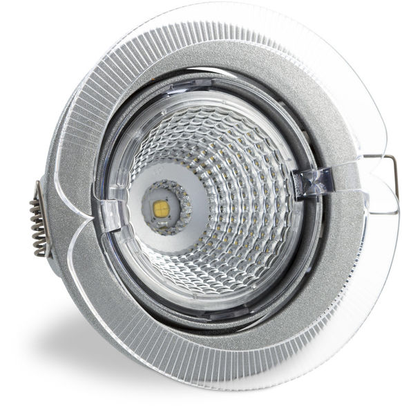 S100 3000K 60° 350lm IP23 LED Spot with Silver Grey Cover